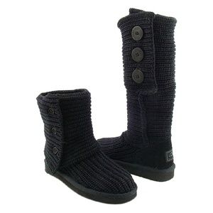 Ugg Cardy Black Boots